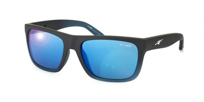 Gafas de sol Arnette AN4176 DROPOUT 225455 FUZZY BLACK/GUMMY BLUEBERRY - DARK BLUE MIRROR BLUE
