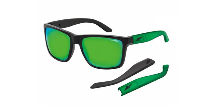 Gafas de sol Arnette AN4177 WITCH DOCTOR 22453R BLACK - LIGHT GREEN MIRROR GREEN