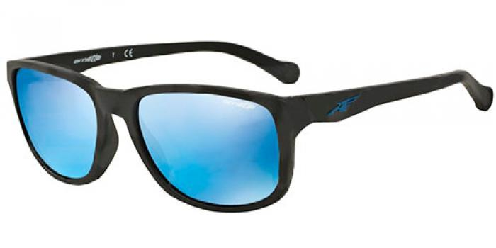 Gafas de sol Arnette AN4214 STRAIGHT CUT 01/55 MATTE BLACK - MIRROR BLUE