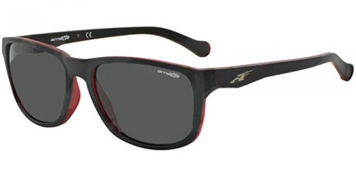 Gafas de sol Arnette AN4214 STRAIGHT CUT 231287 MATTE BLACK ON OPAL RED - GREY