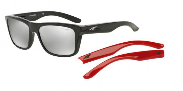 Gafas de sol Arnette AN4217 SYNDROME 41/6G GLOSS BLACK - SILVER MIRROR