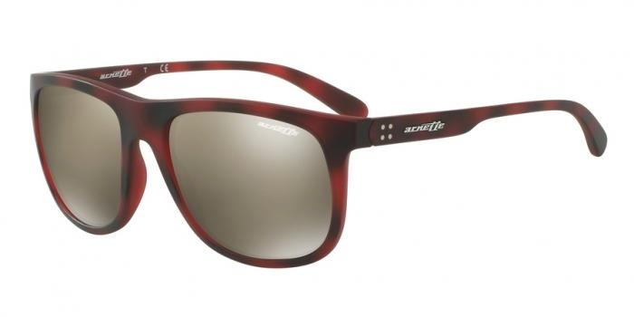 Gafas de sol Arnette AN4235 CROOKED GRIND 24635A MATTE DARK BROWN HAVANA - LIGHT BROWN MIRROR DARK GOLD