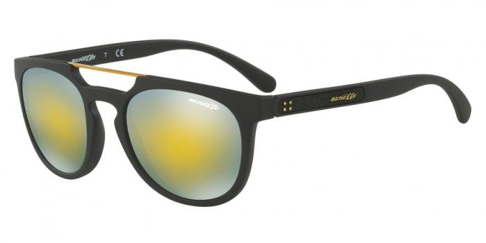Gafas de sol Arnette AN4237 WOODWARD 01/8N MATTE BLACK - MIRROR GREEN GOLD