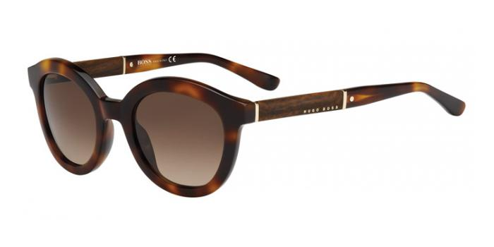 Gafas de sol BOSS Hugo Boss BOSS 0662/S NOX (J6) HAVANA/WOOD/HAVANA / BROWN SHADED