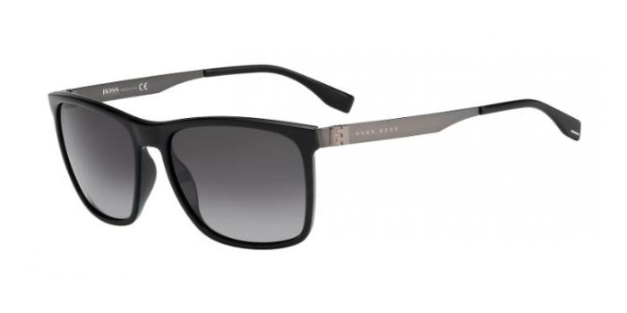Gafas de sol BOSS Hugo Boss BOSS 0671/S LB0 (HD) BLACK/DARK RUTHENIUM / GREY SHADED