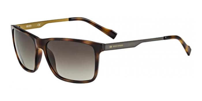 Gafas de sol Boss Orange BO 0163/S 8XL (HA) HAVANA / BROWN SHADED