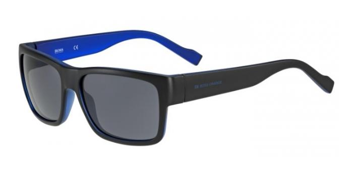 Gafas de sol Boss Orange BO 0176/S JJS (BN) BLACK/BLUE / DARK GREY