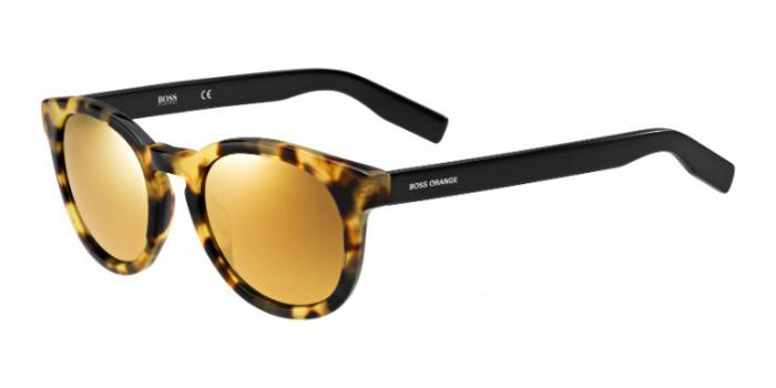 Gafas de sol Boss Orange BO 0194/S 7G9 (4D) SPOTTED HAVANA/BLACK / BROWN BRONZE MIRROR