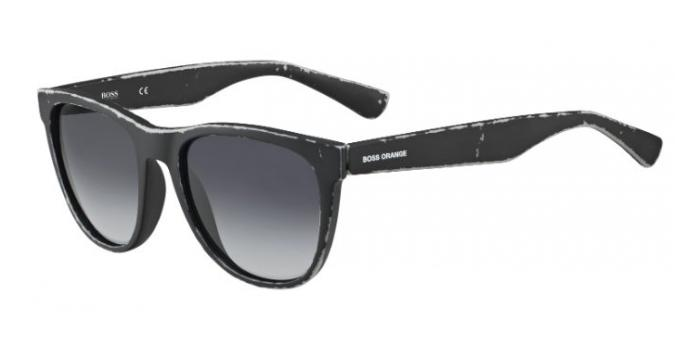 Gafas de sol Boss Orange BO 0198/S 9DR (HD) BLACK/LIGHT GREY / DARK GREY SHADED