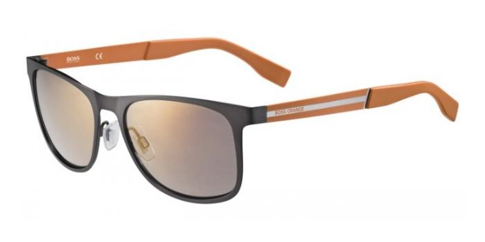 Gafas de sol Boss Orange BO 0244/S QDC (CT) MATTE DARK RUTHENIUM/ORANGE / COOPER MIRROR