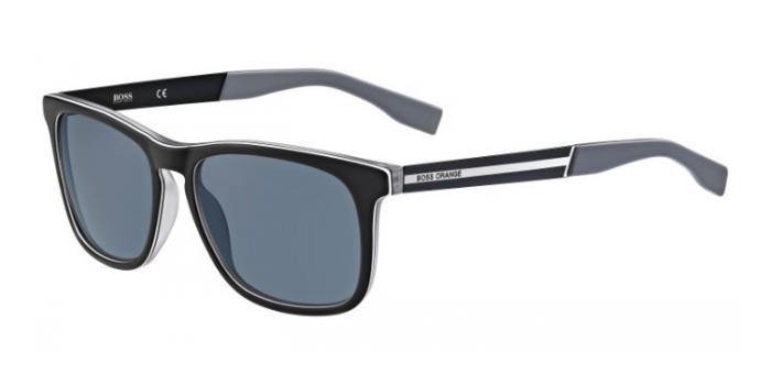 Gafas de sol Boss Orange BO 0245/S QDK (NL) BLACK/RUTHENIUM / GREY