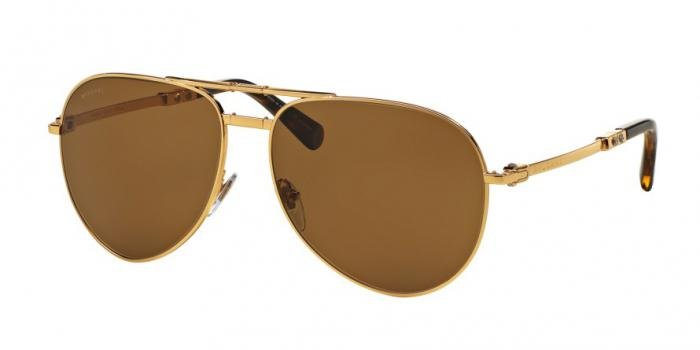 Gafas de sol Bvlgari BV5034K 393/83 GOLD PLATED - POLAR BROWN