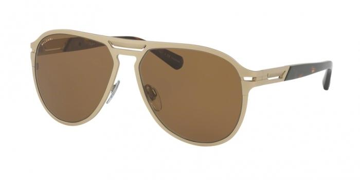 Gafas de sol Bvlgari BV5043TK 203983 PALE GOLD PLATED MATTE - POLAR BROWN