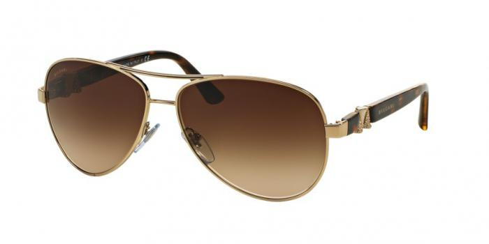 Gafas de sol Bvlgari BV6080B 278/13 PALE GOLD - BROWN GRADIENT