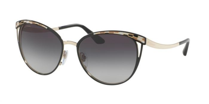 Gafas de sol Bvlgari BV6083 20188G BLACK/PALE GOLD - GREY GRADIENT