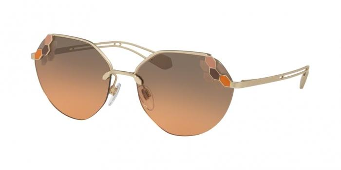 Gafas de sol Bvlgari BV6099 201318 MATTE PALE GOLD - ORANGE GRADIENT LIGHT GREY?