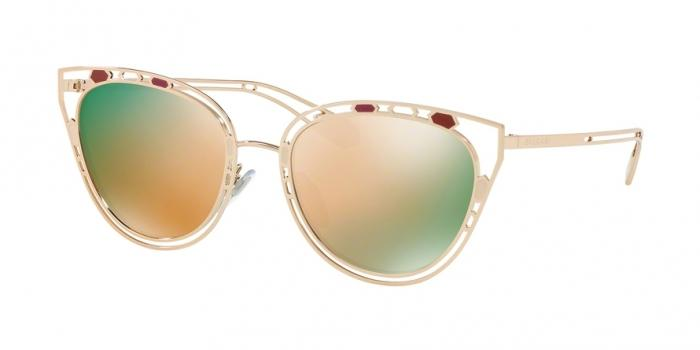 Gafas de sol Bvlgari BV6104 20144Z PINK GOLD - GREY MIRROR ROSE GOLD
