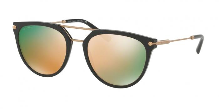 Gafas de sol Bvlgari BV7029 501/4Z BLACK - GREY MIRROR ROSE GOLD