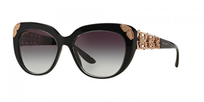 Gafas de sol Bvlgari BV8162B 53838G TOP CRYSTAL ON BLACK - GREY GRADIENT
