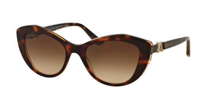 Gafas de sol Bvlgari BV8168B 537913 TOP HAVANA/BROWN CRYSTAL - BROWN GRADIENT