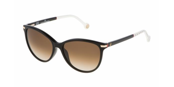Gafas de sol Carolina Herrera SHE651 700L NEGRO/BLANCO - MARRÓN DEGRADADO