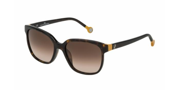Gafas de sol Carolina Herrera SHE687 0722 MARRÓN OSCURO - MARRÓN DEGRADADO