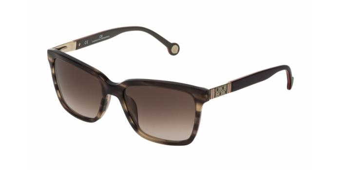 Gafas de sol Carolina Herrera SHE692 06HN MARRÓN OSCURO - MARRÓN DEGRADADO