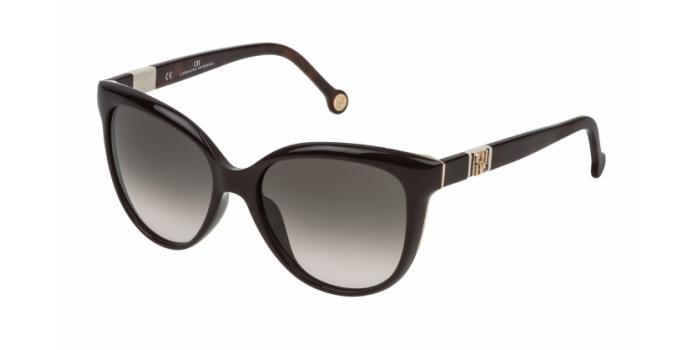 Gafas de sol Carolina Herrera SHE697 06XK MARRÓN OSCURO - GRIS DEGRADADO