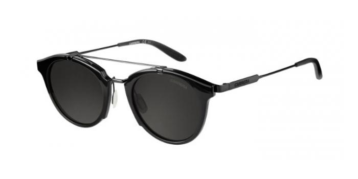 Gafas de sol Carrera CARRERA 126/S MAVERICK COLLECTION 6UB (NR) SHINY BLACK GOLD / BROWN GREY