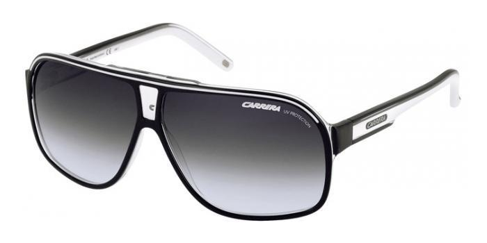 Gafas de sol Carrera GRAND PRIX 2 T4M (9O) BLACK/WHITE / DARK GREY SHADED