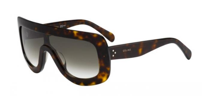 Gafas de sol Celine CL 41377/S ADELE 086 (EM) DARK HAVANA / GREEN SHADED