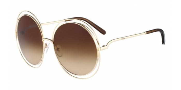 Gafas de sol Chloe CE114S 784 ROSE GOLD/TRANSPARENT BROWN