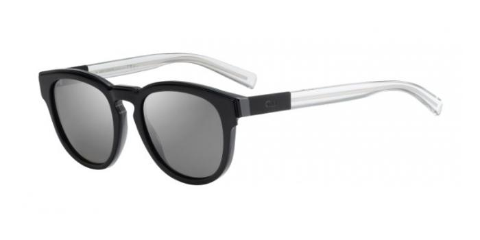 Gafas de sol Dior Homme BLACKTIE212S LMW (JI) BLACK/GREY/CRYSTAL / GREY SILVER FLASH