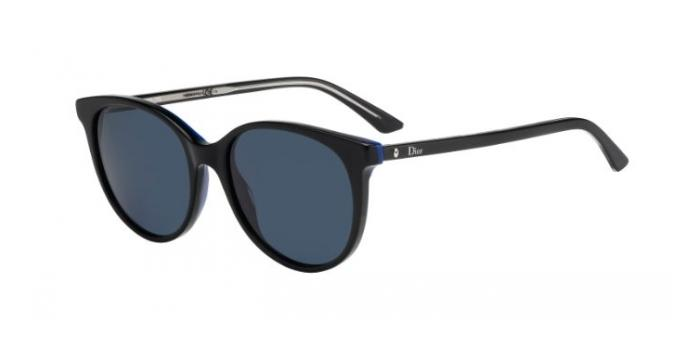 Gafas de sol Dior MONTAIGNE16S MV3 (KU) BLACK BLUE CRYSTAL / BLUE AVIO