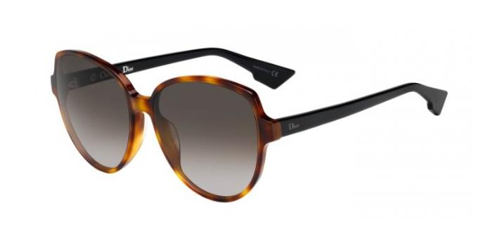 Gafas de sol Dior DIORONDE2 5FC (HA) DARK HAVANA BLACK / BROWN GRADIENT