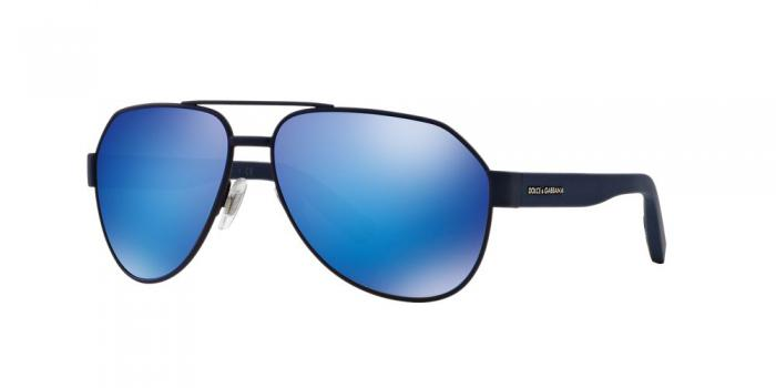 Gafas de sol Dolce & Gabbana DG2149 127325 BLUE RUBBER - GREEN MIRROR LIGHT BLUE