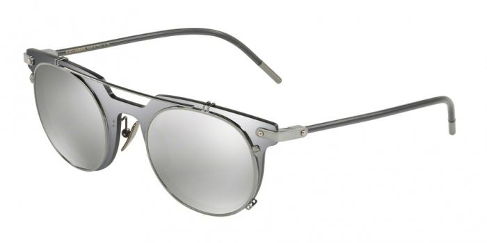 Gafas de sol Dolce & Gabbana DG2196 04/6G GREY MIRROR BLACK - LIGHT GREY MIRROR SILVER