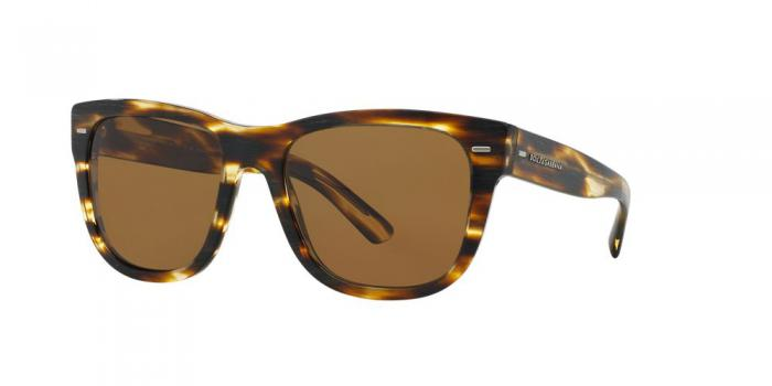 Gafas de sol Dolce & Gabbana DG4223 NEW BOND STREET 282683 BRUSHED STRIPED HAVANA - POLAR BROWN