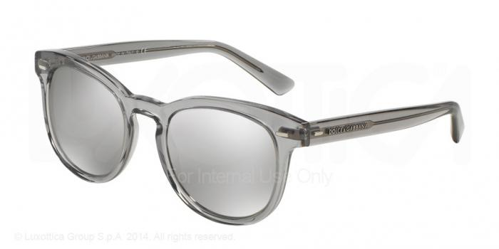 Gafas de sol Dolce & Gabbana DG4254 29166G TRANSPARENT GREY - LIGHT GREY MIRROR SILVER