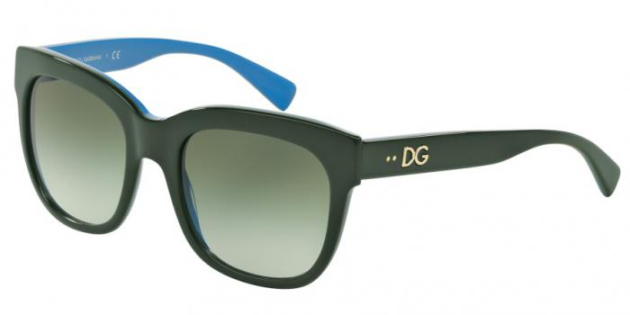 Gafas de sol Dolce & Gabbana DG4272 30068E TOP WOOD/GOLD/AZURE - GREEN GRADIENT