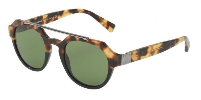 Gafas de sol Dolce & Gabbana DG4313 314352 LIGHT HAVANA/BLACK - GREEN
