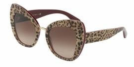 Gafas de Sol Dolce & Gabbana DG4319 316113 LEO ON BORDEAUX - BROWN GRADIENT