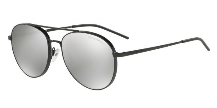 Gafas de sol Emporio Armani EA2040 30146G BLACK - LIGHT GREY MIRROR SILVER