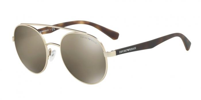 Gafas de sol Emporio Armani EA2051 30135A MATTE PALE GOLD - LIGHT BROWN MIRROR DARK GOLD