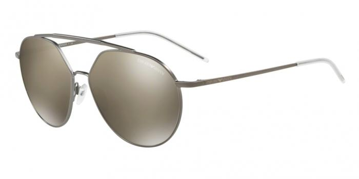 Gafas de sol Emporio Armani EA2070 30035A MATTE GUNMETAL - LIGHT BROWN MIRROR GOLD