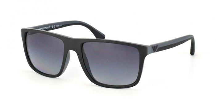 2867fb188ed Gafas de sol Emporio Armani EA4033 5229T3 BLACK GREY RUBBER - POLAR GREY  GRADIENT