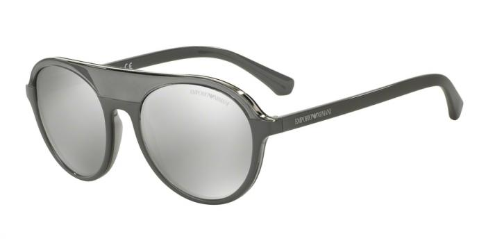 Gafas de sol Emporio Armani EA4067 55216G TRANSPARENT GREY/GREY - LIGHT GREY MIRROR SILVER
