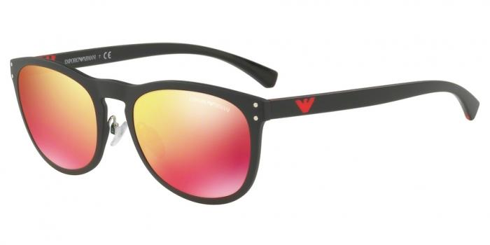 Gafas de sol Emporio Armani EA4098 50426Q MATTE BLACK - RED MULTILAYER