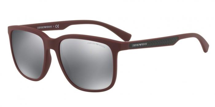 Gafas de sol Emporio Armani EA4104 56066G BORDEAUX RUBBER - LIGHT GREY MIRROR BLACK