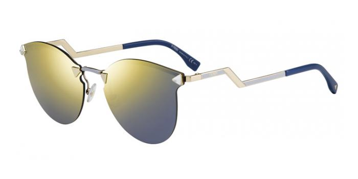 Gafas de sol Fendi FF 0040/S IRIDIA JFG (SQ) GOLD/GREY / GOLD MULTILAYER